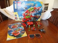 Lego Atlantis 8075 Neptune Carrier with original box / manual and mini figs
