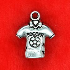 4 X Tibetano Plata fútbol fútbol Camisa encanto colgante encontrar abalorios que