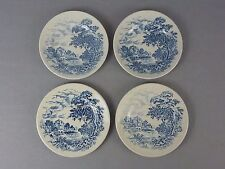 "4 Enoch Wedgwood Bread Dessert Pet Dog Cat Plates Dishes / ""Countryside"" / 6"""
