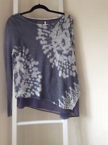 Mint Velvet grey linen jumper size 12 with under layer excellent condition