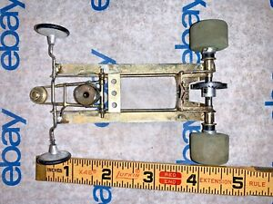 1/24 Slot Car Chrome Chassis with Axles & Tires