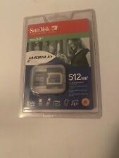 SanDisk SDSDM-512-A10M Mini SD 512 MB Flash Memory Card (Retail Package)