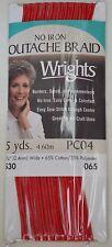 "Wrights - Soutache Braid - Red - 3/32"" w x 5 yd l - No Iron"