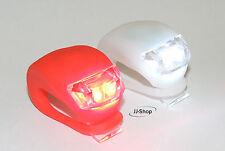 2 x LED Fahrradlampe Vorderlicht & Rücklicht Fahrrad Lampe Neu *inkl. Batterien*