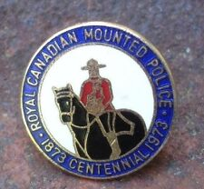 old vintage 1973 Royal Canadian Mounted Police Centennial lapel pin horse rider