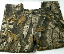 1ddd6437 Wrangler RealTree Camo Mens Pants Sz 36 x 32 Cargo Flap Pockets Military  Style