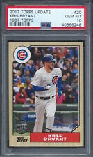 2017 Topps Update Kris Bryant 1987 PSA 10 Chicago Cubs
