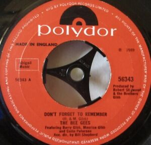 """BEE GEES - Don't Forget To Remember - 7"""" Single"""