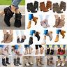 Damen Mitte Hohe Blockabsatz Stiefel Stiefeletten Ankle Boots Damenschuhe Pumps