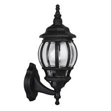 MiniSun ip44 Garden Wall Light Lantern - Black