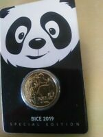 AUSTRALIA 2019 $1 MOB OF ROOS PANDA PRIVY BEIJING COIN EXPO UNC COIN IN CARD