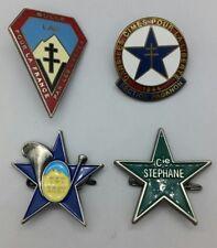 Lot de 4 Insignes FFI Cie Mont Blanc Stephane - Bulle - Paganon 1944  Refrappes