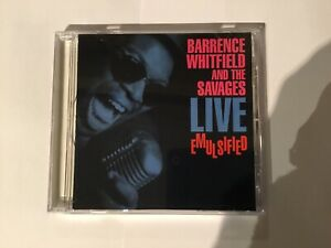BARRENCE WHITFIELD & THE SAVAGES - LIVE EMULSIFIED ( ROUNDER 1989 CD)