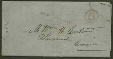 1/7/1850 Jacksonville Fl Red Steam Boat Paid 5 G Mooney Wm H Garland Savannah Ga