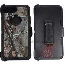 For iPhone 7 Plus Black/Tree Camo Defender Case Cover (Clip Fits OtterBox)