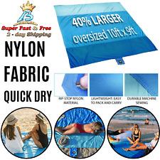 New listing Picnic Blanket Beach Mat Corner Pocket Camping Travel Sand Huge Ground Cover 10'