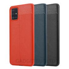 Silicone Soft Slim Rubber Bumper Leather Cover Case For Samsung Galaxy A51