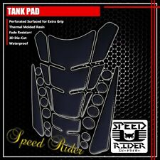 13PC CUSTOMIZABLE TANK PAD PROTECTOR GUARD DECAL STICKER BLACK/CHROME BLACK EDGE