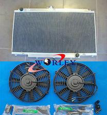 3 Row Aluminum Radiator + Fans for Nissan GU PATROL Y61 petrol 4.5L MT 1997-2001