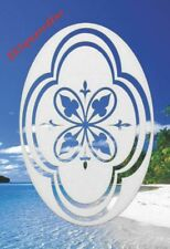 Decorative Window Decal New Oval 10x16 Static Cling Sliding & Shower Door Decor