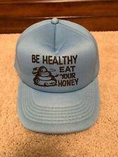 Vintage Mens Novelty Snapback Trucker Hat Be Healthy Eat Your Honey Bees Farm