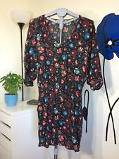 Forever 21 Floral Print Mini Dress Size M Long Sleeve Contemporary Series