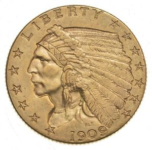 1909 $2.50 Indian Head Gold Quarter Eagle - Walker Coin Collection *183