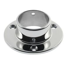 "Crosinox 47-510/1H Polished 316 Stainless Steel 3"" Wall Flange Tubing Size 1-1/2"