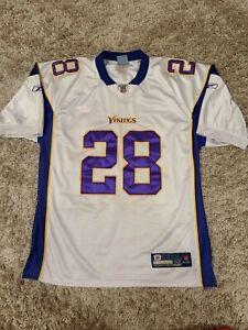 Vintage Minnesota Vikings Adrian Peterson Reebok On Field Sewn Jersey 52