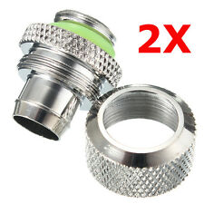 3/8 Computer Water Cooling Compression Fitting For 9.5X12.7 Tubing Pipe NEW