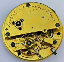 Arnold & Dent Cylinder Fusee Pocket Watch Movement - Working (P55*)