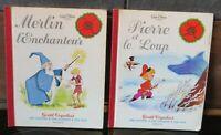 LOT 2 LIVRES: GENTIL COQUELICOT (Disney) Pierre et Loup, Merlin