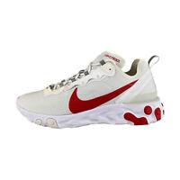 Nike react Élément 55 Se Blanc/Rouge Baskets Hommes BQ6167-102