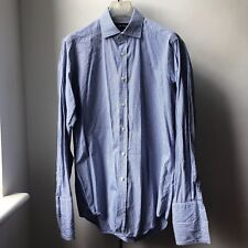 Classic great quality Ralph Lauren purple label check shirt Sz 15 Double cuff