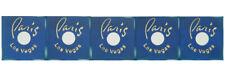 Casino Dice - Paris Casino Stick of 5 Blue Used Dice Las Vegas Nevada 2000's