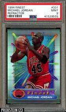 "1994 Finest Refractor #331 Michael Jordan HOF PSA 9 MINT "" NBA Legend """