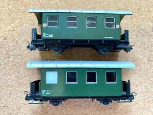 Lilliput HOe scale carriages 2 Austrian used