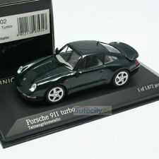 MINICHAMPS PORSCHE 911 (993) TURBO TANNENGRUN METALLIC 430069202