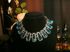 necklace London Blue arrow filigree  925 Silver plated Cleopatra choker  adj.