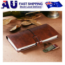 Vintage Bound Handmade Leather Cover Journal TRAVEL Notebook Travelers Diary