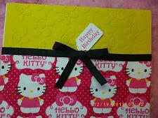 Handmade HAPPY BIRTHDAY Card HELLO KITTY Using Stampin Up Quickutz Embossed