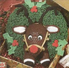 Crochet Pattern ~ RUDOLPH REINDEER CHRISTMAS WREATH ~ Instructions