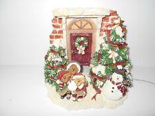 BOYD BEAR'S CAROL, NICHOLAS & NOEL - LIGHTED CHRISTMAS FIGURINE - RETIRED
