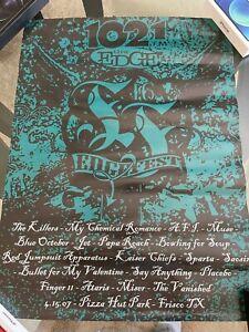 102.1 The Edge KDGE Dallas Edgefest 16 promo poster Killers Muse Blue october