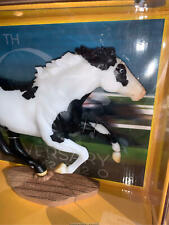 Breyer Model Horses 70th Anniversary Black and White Smarty Jones Chase