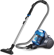Whirl Wind Canister Vacuum Cleaner Lightweight for Carpets and Hard Floors Blue