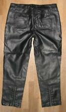 """"""" Pimkie """" PVC Leather Jeans/Leather Pants IN Black Approx. Size 140/146"""