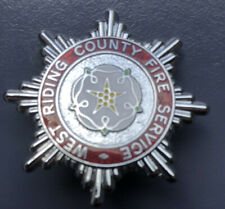 WEST RIDING COUNTY FIRE BRIGADE CAP BADGE.