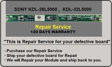 """1-857-331-21 H2 55.71I02.A01G 1A """"Repair Service"""" SONY KDL-26L5000,KDL-32L5000"""