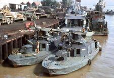 Vietnam War U.S. Navy PBR's In Port For Maintenance High Gloss 8.5x11 Photo